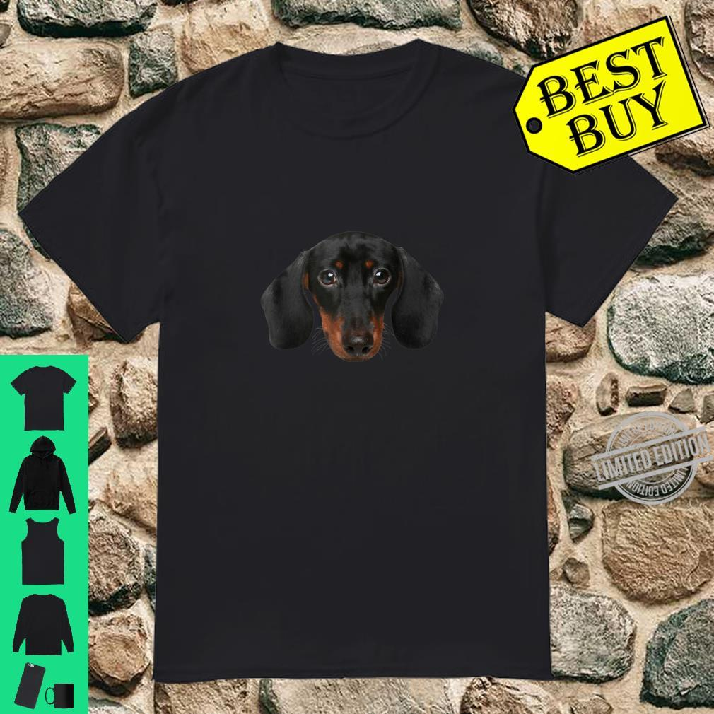 Novelty Dachshund Wiener Dog Face for Doxies Shirt