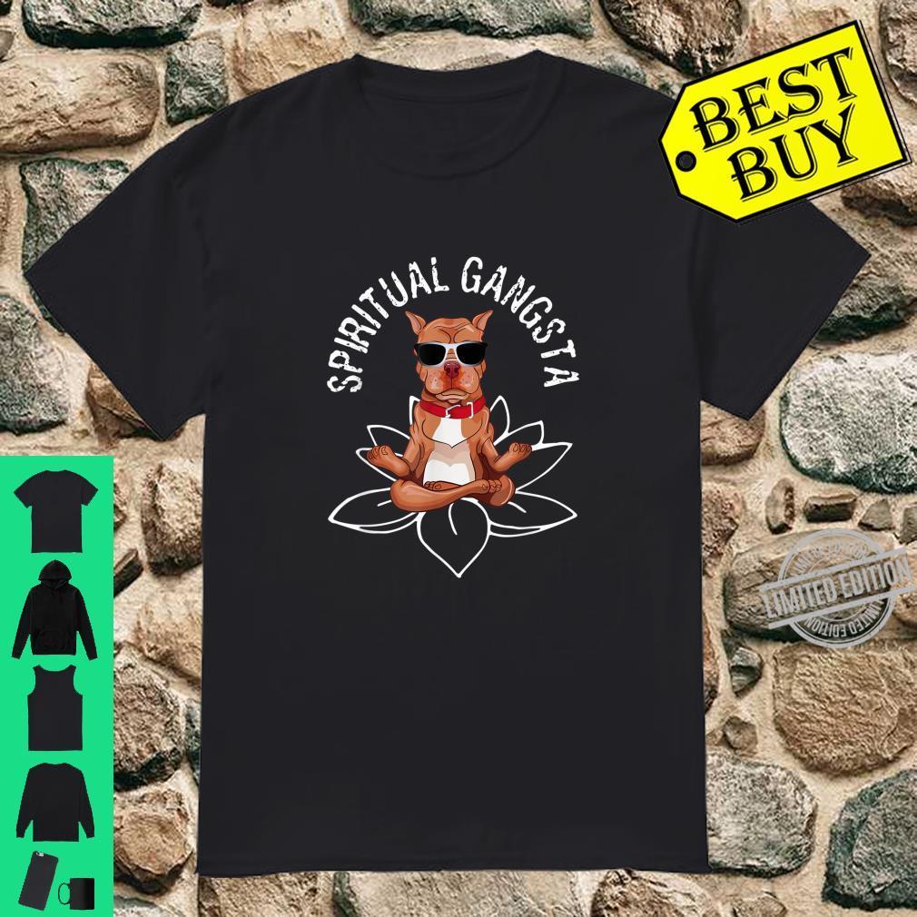 PitBull Spiritual Gangsta Yogi Puppy Dog Animal Yoga Shirt