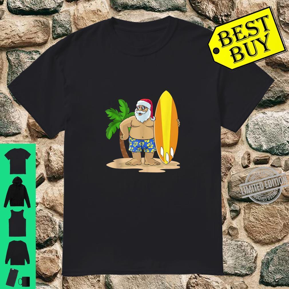 Santa Christmas in July Summer Hawaiian Surfing Vacation BZR Shirt