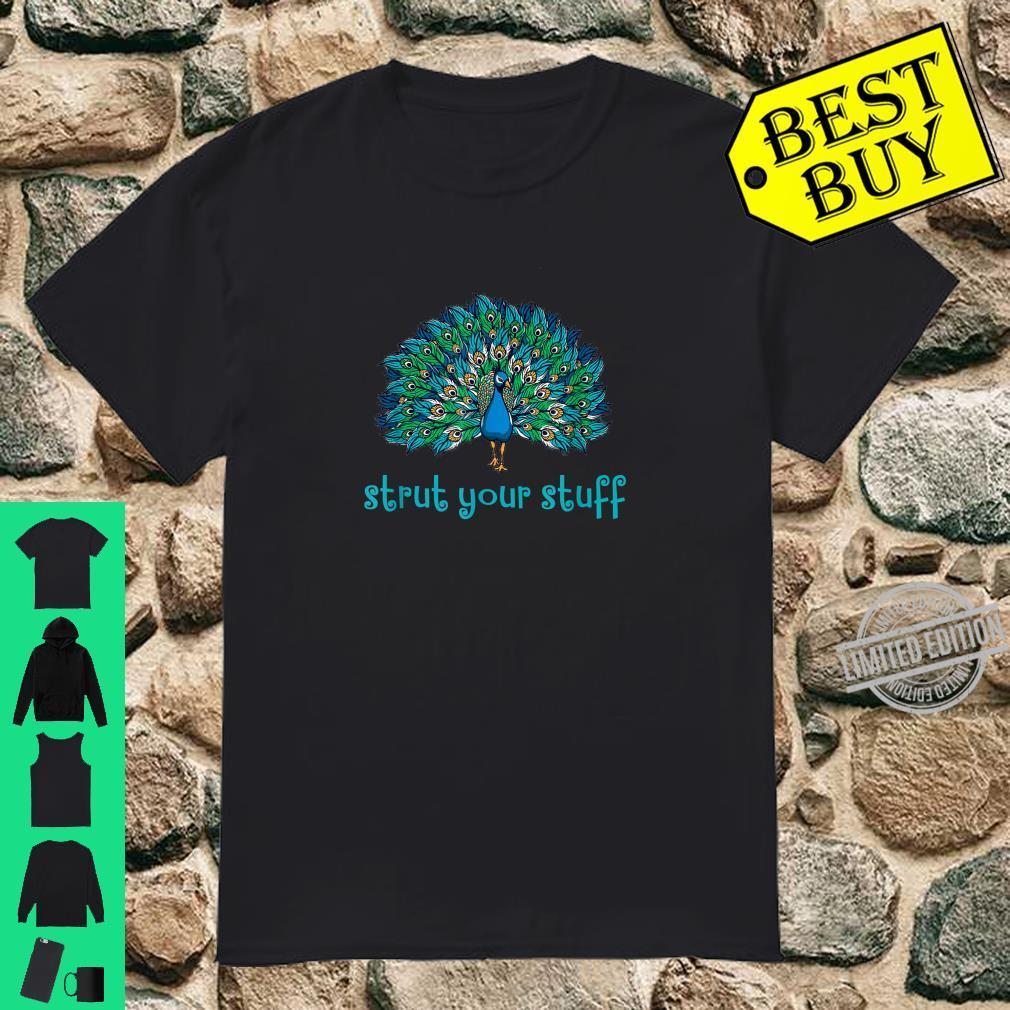 Sassy Strut Your Stuff Peacock Shirt