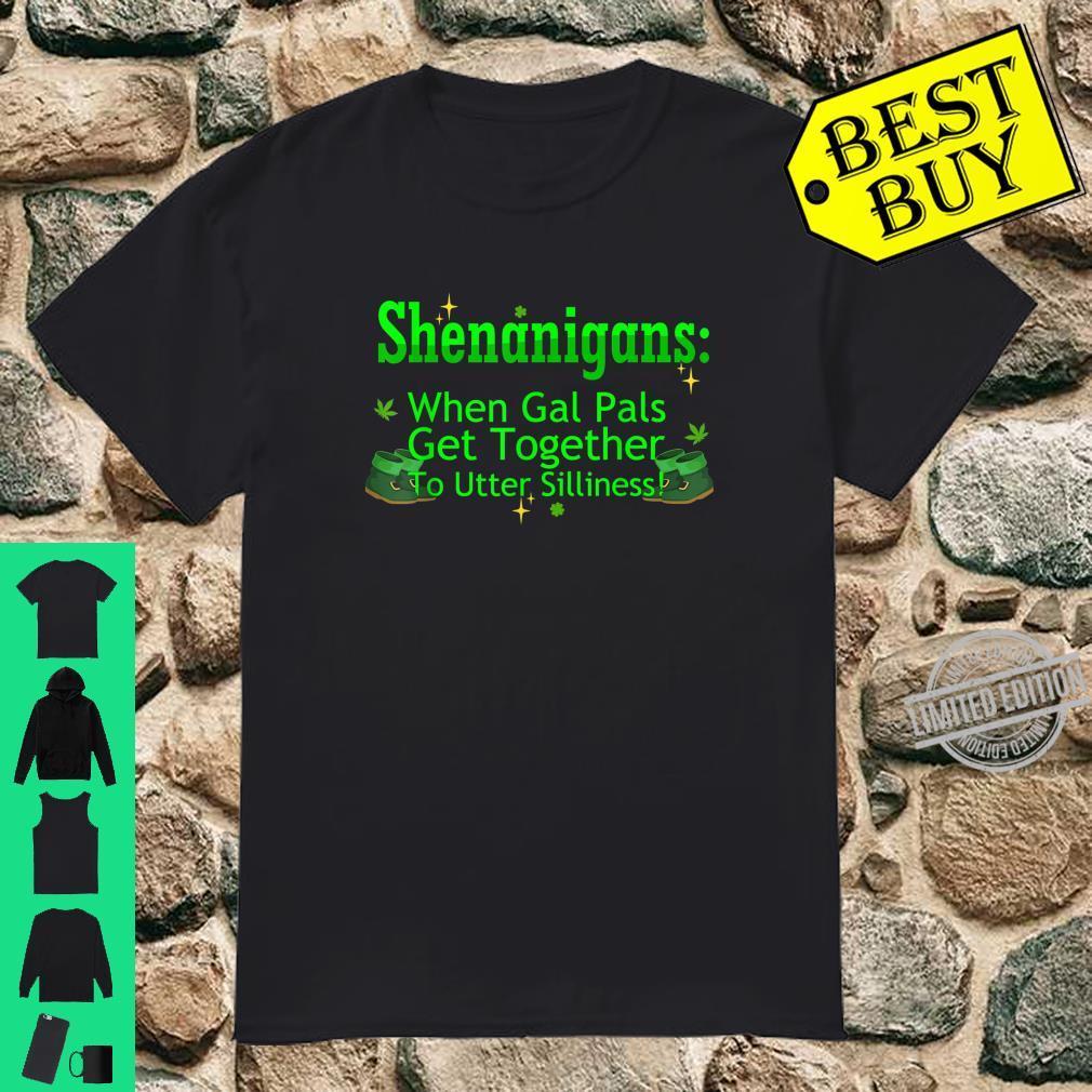 St Patricks Marijuana Shirt Shenanigans Weed Cannabis Shirt