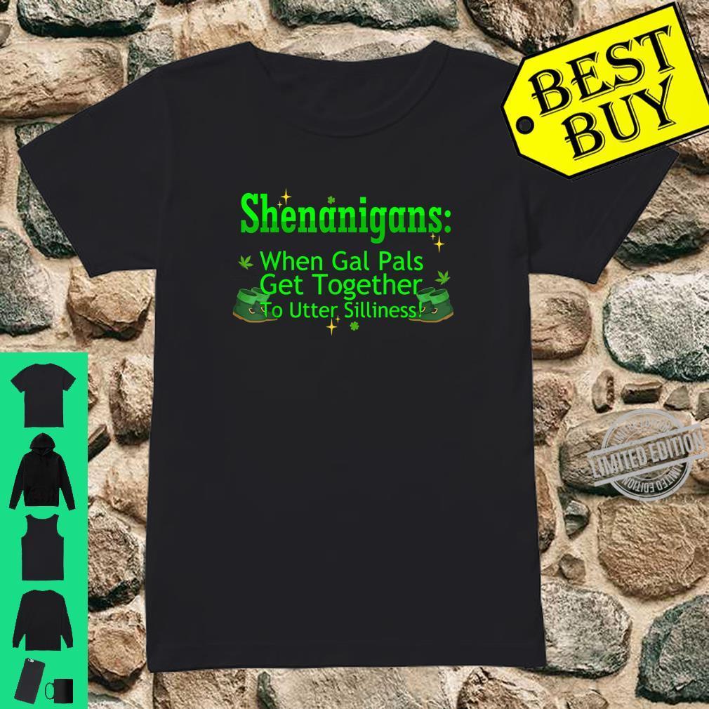 St Patricks Marijuana Shirt Shenanigans Weed Cannabis Shirt ladies tee