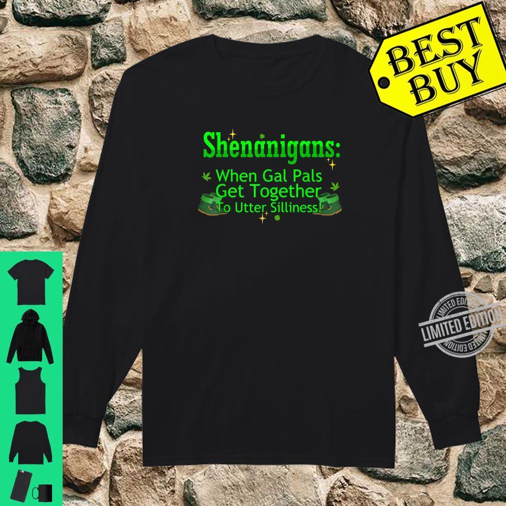 St Patricks Marijuana Shirt Shenanigans Weed Cannabis Shirt long sleeved