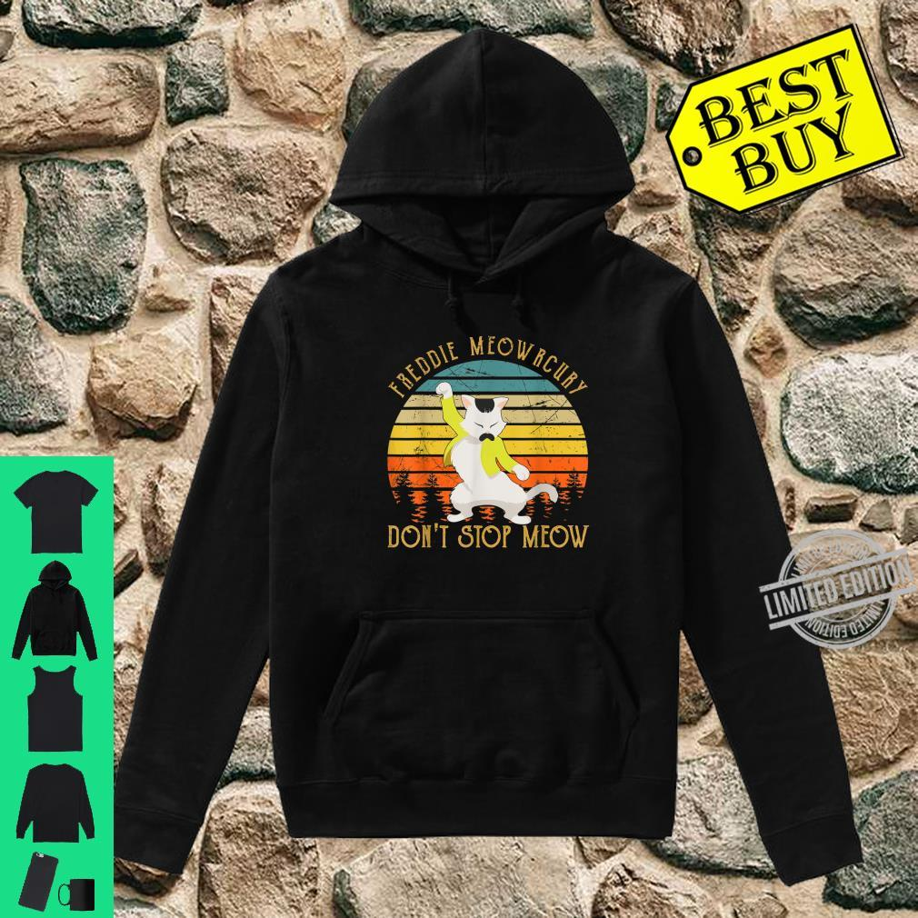 Vintage Freddie Purrcury Don't Stop Meow Cute Cats Love Shirt hoodie