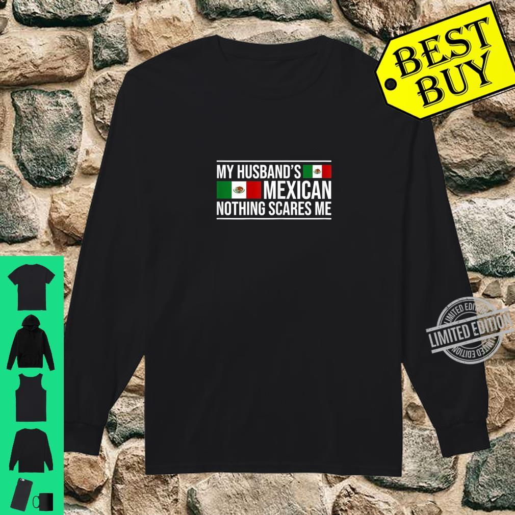 Womens Mexican Husband Mexico Wife Anniversary Wedding Shirt long sleeved