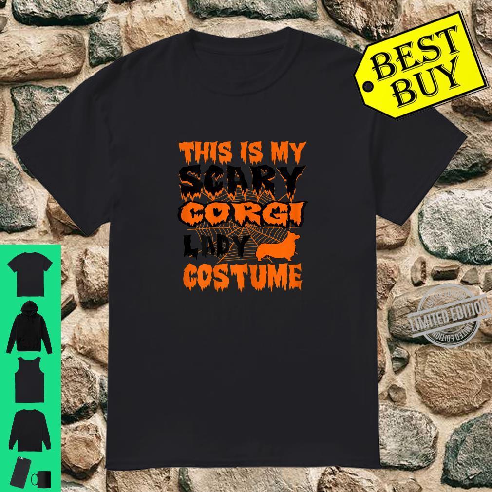 Womens This Is My Scary Corgi Lady Halloween Costume Shirt