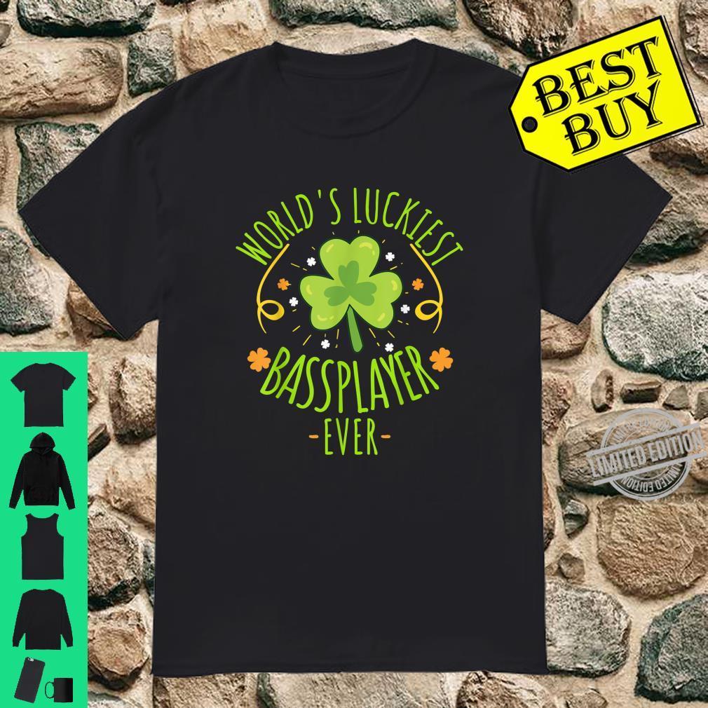 World's Luckiest Bassplayer Ever St Patrick day Irish Shirt